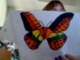 A colorful butterfly by Sakurafangurl2009