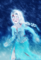 Elsa(Bloody battle scarred version??) by Pogoworld2010