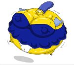 Marge Simpson inflated in a night dress by Pervertix