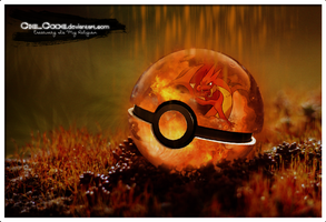 Mega Charizard Y Pokeball by CielCode