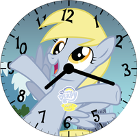 Derpy Clock face! by trebory6