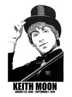 DSS No. 19 - Keith Moon by gothicathedral