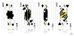 Queen of Suit Cards by smallvillereject