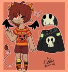 Demon Boy Halloween Offer To Adopt(cancelled) by Damian-Fluffy-Doge