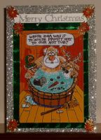Frosty's Hot Tub Invite Xmas Card by blackrose1959