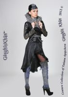 COAT Felt Wool, Leather, Chainmaille Eco Designer by TianaChe