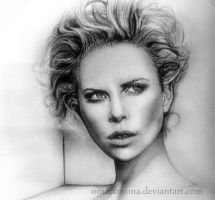 Charlize Theron WIP 02 by OmarCorona