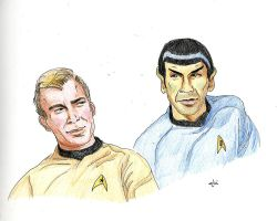 Gazing at you [Spirk] by AloiInTheSky