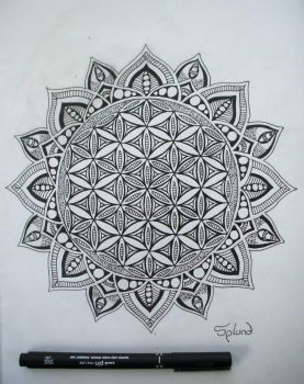 Flower Of Life Mandala by Splund-Art