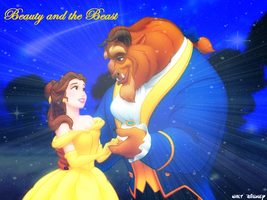 Beautyand the Beast Background by SingWriteDraw