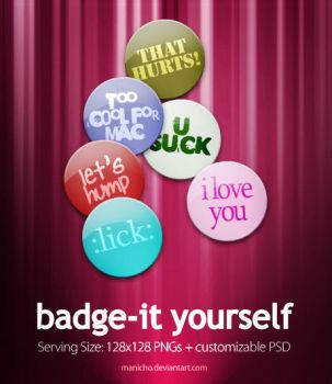 Badge-it Yourself by mauricioestrella