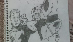 Punisher Vs Dead pool by 1stylz