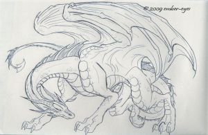 Dragon PenSketch by Ember-Eyes