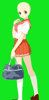 Seifuku girl and bag by TheGoldenMagikarp