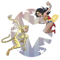 wonder woman vs cheetah by jimmymcwicked