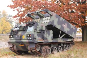 m270 multiple launch rocket system by damenster