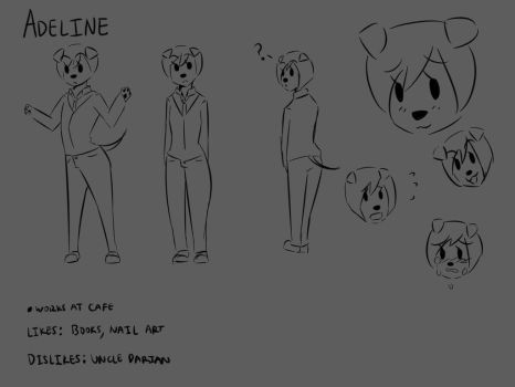 Adeline Character Sheet (No Color) by LassyVenpaw