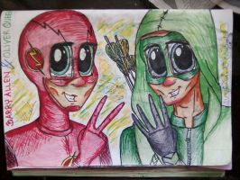 barry and oliver by MrsCromwell
