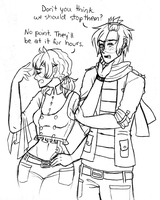 DGM OCs: Riche and Jethese - Bystanders by AlyssaFoxAH