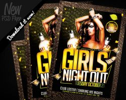 Girls Night Out Flyer Template PSD by REMAKNED