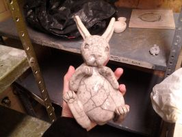 Finished zoomorphic vessel - bunny by Autumn-Gracy