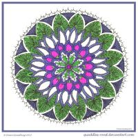 Wild flower Mandala by Quaddles-Roost