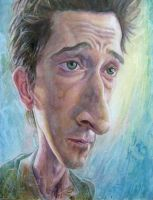 Adrien Brody caricature by Emmer