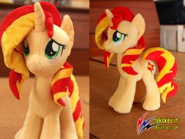 Sunset Shimmer plush V3 by nekokevin