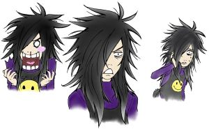 colored Madara faces 1 by CruelEspada