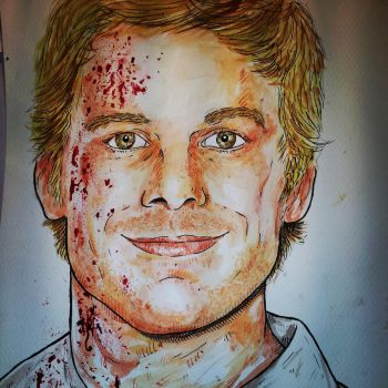 Dexter Morgan painting by ReVerbaration