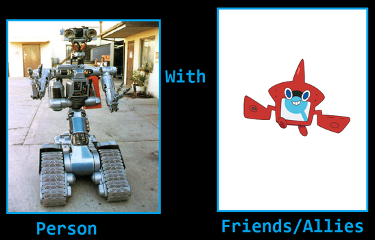 What if - Johnny 5 became friends with Rotom Dex by ChipmunkRaccoonOz