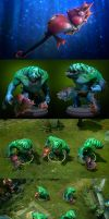 Dota2 Bludgeon of the Aquatic Steed by polyphobia3d