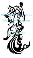 Tribal Elemental Climbing Wolf COM by ShadowKira