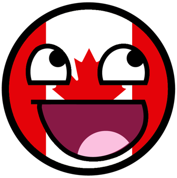 Maple Leaf Awesome Face by TigerJ15