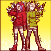 Nagisa and Koemi Matryoshka by BayneezOne