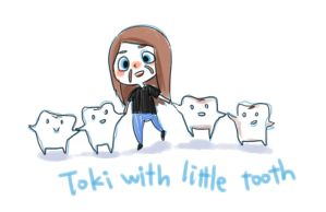 Toki with little tooth by jbace