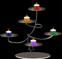 colorful candles by Mallagueta-Pepper