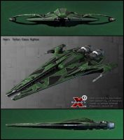 Narn Ta'lon Class fighter by Amras-Arfeiniel