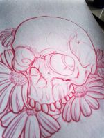 skull and flowers 2 by wargland