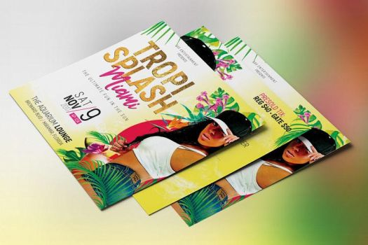 Tropical Party Small Flyer Template by Godserv