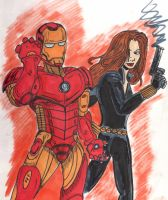 IronMan and the Black Widow by C4L