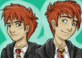 Fred and George Weasley by ShadowedFate