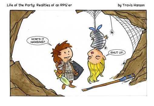 dungeon puns.... rpg comic by travisJhanson