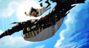 Flying with Manta by tunaniverse