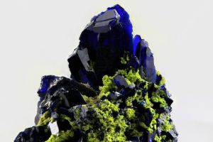 Azurite and Gartrellite by bmah
