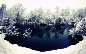 Winter River by snipes2