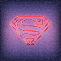 Neon Superman iPad Wallpaper by TheDoLittle
