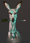 Red Eyed Doe by Tatchit