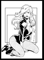 BLACK CANARY penciling by Phil Moy ink by me by jbellcomic