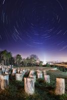 Belgrade star trail by BorisMrdja